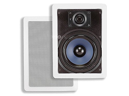 Monoprice 6-1/2 Inches Polypropylene 2-Way In-Wall Speakers (Pair) - 40W Nominal, 80W Max.