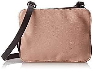 French Connection Cosmic Triple Zip Cross Body Bag,Blush Multi,One Size