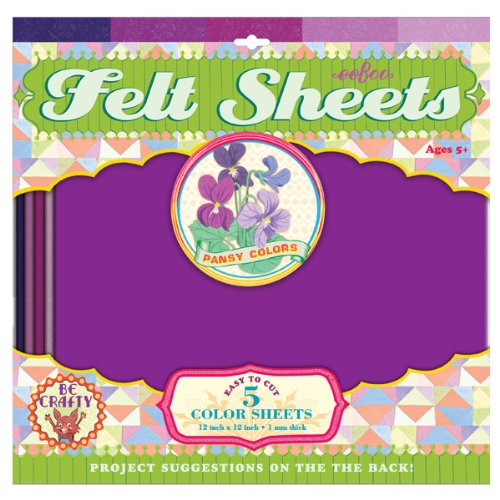 Pansy Colors Felt Sheets