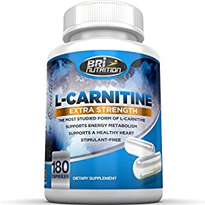 Top Rated L-Carnitine 1000mg Servings - 500mg Capsules By BRI Nutrition