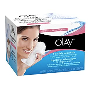 Olay 4-in-1 Normal Daily Facial Cloths, 33 ct