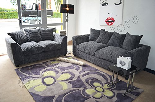 dylan-byron-grey-fabric-jumbo-cord-sofa-settee-couch-3-2-seater