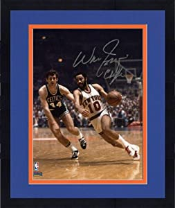Framed NBA New York Knicks Walt Frazier Autographed 8 x 10 vs. Boston Celtics Photo... by Sports Memorabilia