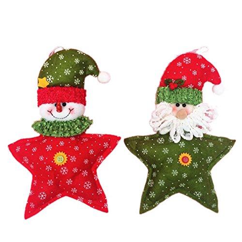Smile-YKK-2pcs-Ornement-de-Nol-Dcor-Poupes-en-Peluche-Dcoration-Cadeau