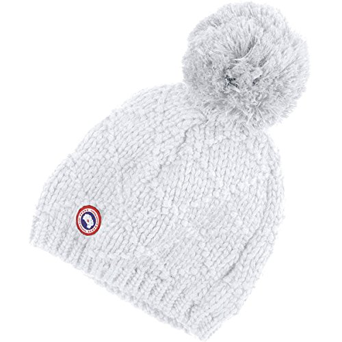 Canada Goose Giant Pom Toque Beanie - Women's White, One Size (Canada Goose Merino Wool Hat compare prices)