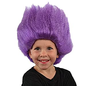 My Costume Wigs Purple Troll Wig (Purple) One Size fits all