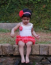 Dchica Cotton and Net Frilly Skirt With Attached Bloomer (Limited Stock Offer Buy any of the Clothes Of D'chica and get a