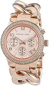 Michael Kors Damen-Armbanduhr Chronograph Quarz Edelstahl beschichtet MK3247