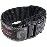 Casio G-Shock Uhrenarmband Textil Klettband Durchzugsband Schwarz-Grau 23mm G-3010V G-2110V