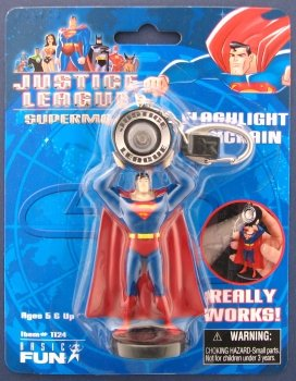 Picture of Basic Fun Justice League Superman Figure Flashlight Keychain (B004AWJOG0) (Superman Action Figures)