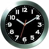 Bai Brushed Aluminum Wall Clock, Mega Black