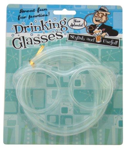 Drinking Straw Glasses Retro Novelty Christmas