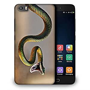 Snoogg Green Snake Designer Protective Back Case Cover For REDMI 5
