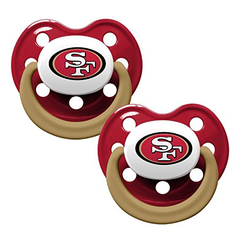 NFL Football 2014 Baby Infant Pacifier 2-Pack - Pick Team (San Francisco 49ers - Holes)