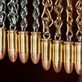 9mm Handmade Bullet Christmas Ornament by Chocolate Weapons (Brass Chain)