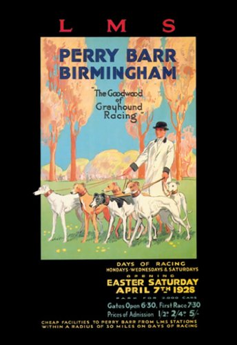 Lms - Perry Barr - Birmingham - The Goodwood Of Greyhound Racing - Easter Saturday - April 7Th 1928, 12X18 Canvas Giclée, Gallery Wrap