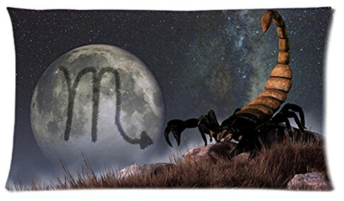 One Side Custom Rectangle Scorpio Of Zodiac Pillow Cases 20X36 Inch front-1059922