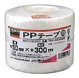 TRUSCO PPテープ 白 50mm×300m TPP50300W