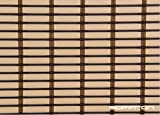 Art Wood Roll Up Blinds- Biscuit Brown (4ft Width X 8.5ft Height)