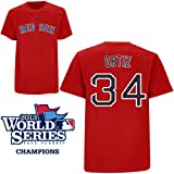 David Ortiz Boston Red Sox Red Player T-Shirt w  World Series Logo by Majestic by Majestic
