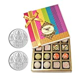 Chocholik Belgium Chocolates - Desert Lovers Chocolate And Truffle Gift Box With 5gm X 2 Pure Silver Coins - Gifts...