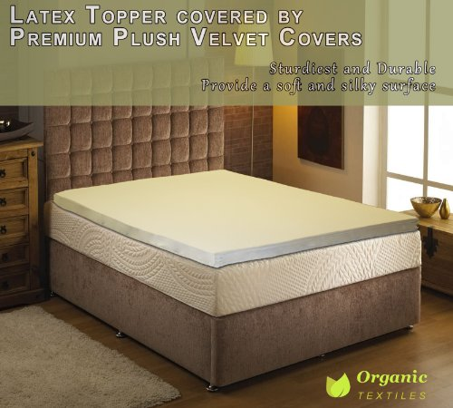Natural Latex Mattress Topper With Premium Velvet Covering Full Size back-6060