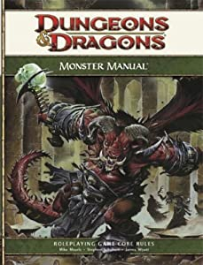 Dungeons and Dragons Monster Manual: Roleplaying Game Core Rules, 4th Edition by Mike Mearls