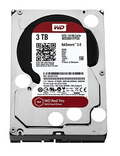 "WD Red Pro 3.5"" Disque dur interne pour NAS 8 à 16 baies 3 To 7200 RPM 64 Mo SATA 6Gb/s (WD3001FFSX - bulk)"
