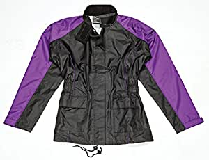 Joe Rocket RS-2 Women's Rain Suit (Black/Purple, Small)