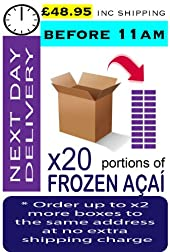 AÇAÍ Frozen - Especial Grade x 20 Portions (Next Day - Before 11am)