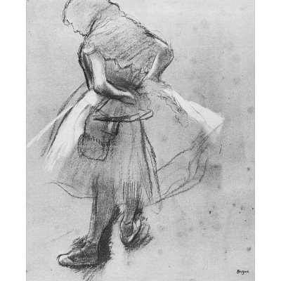 Edgar Germain Hilaire Degas (Dancer her girdle bound) Art Poster Print - 13x19