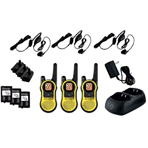 WMU - 23-Mile Talkabout 2-Way Radios Triple Pack With Accessories by Motorola