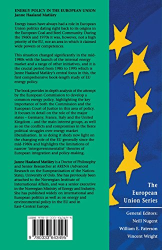Energy Policy in the European Union (The European Union Series)
