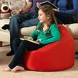 Sitz Sack Bazaar® Large Kinder Sitzsack ROT - 100% Wasserabweisend