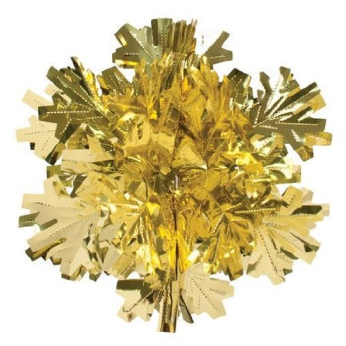 "Creative Converting Glitz Gold Hanging Décor 16"" Dimensional Winter Snowflake"