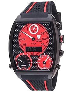DETOMASO VOLTURNO DT2057-B- reloj hombre- negro/negro- correa silicona- nuevo