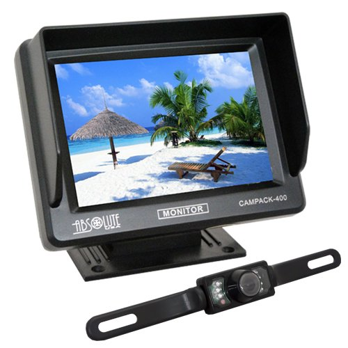 Absolute Campack-400 4.0-Inch Tft/Lcd Rear View Mirror Monitor With Rear View Night Vision Camera