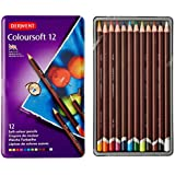 Derwent Coloursoft Colouring Pencils Tin - Set of 12