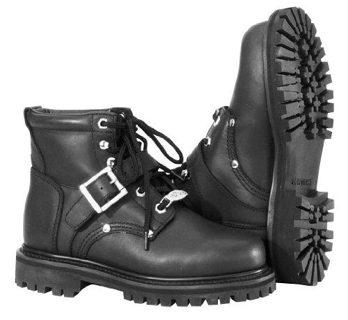 River Road Women's Crossroads Buckle Boots - 10/Black