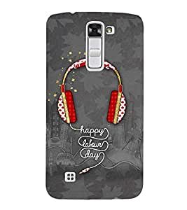 Vizagbeats red headsets Back Case Cover for LG K7