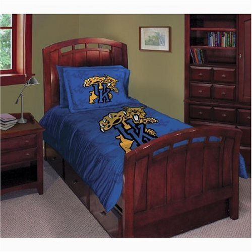 Kentucky Wildcats Twin/Full Comforter with Two Pillow Shams