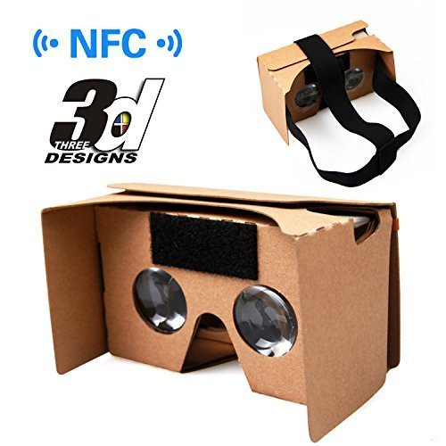 Best Buy! Google Cardboard Kit, Ovinm Virtual Reality 3D Glasses for Smartphone with NFC and Headban...
