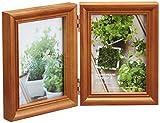 HAKUBA フォトフレーム 木製 額 テリア2  2面 Lサイズ  タテ ブラウン L 木製 FWTR2-BRL2T