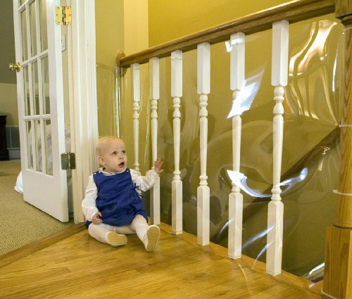Cardinal Gates Banister Shield 15' Roll Clear Newborn, Kid, Child, Childern, Infant, Baby