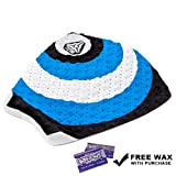 Kelly Slater Komunity Project Kuiper 3 Piece Traction Pad (Blue / White, Tropical Wax)