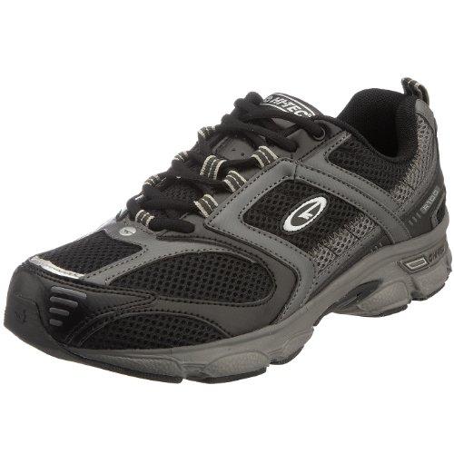 Hi-Tec Men's R100 Running Shoe Black/Grey F000482 021 9 UK