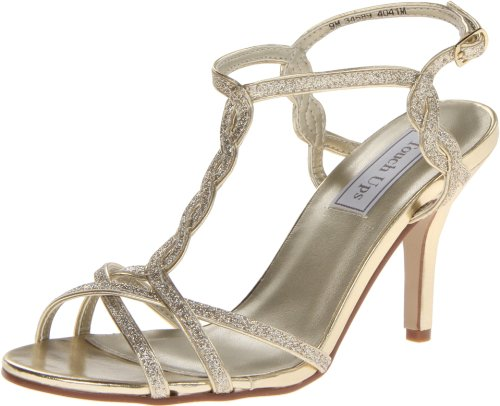 Touch Ups Women's Fran Dress Sandal,Gold Glitter,9.5