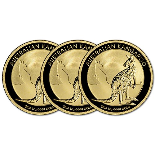 AU 2016 Australia Gold Kangaroo (1 oz) THREE (3) Brilliant Uncirculated