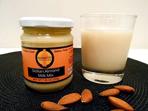 Giannetti Artisans Sicilian Almond Milk Mix (100% Ground Sicilian Almonds jarred 7.05 OZ) (Italian Vanilla Powder compare prices)