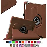 Fintie iPad Air 2 Case - 360 Degree Rotating Stand Case with Smart Cover Auto Sleep / Wake Feature for Apple iPad Air 2 (iPad 6) 2014 Model, Brown